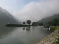 El Danubio esta mañana desde el camping de Grein