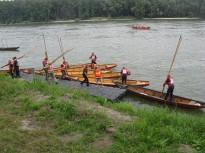 Los remeros en el Danubio.