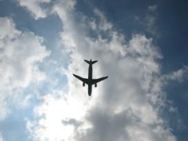 Los aviones llegando al aeropuerto de Viena