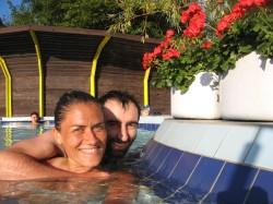 Disfrutando de las aguas termales en Komarom