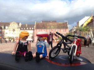 En la Plaza de la Reunión de Mulhouse