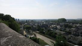 La ciudad de Chinon desde el castillo