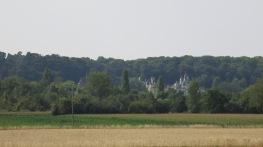 Castillo de Rigny-Ussé en la lejanía