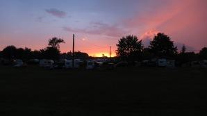 Atardecer desde el camping de Beaugency