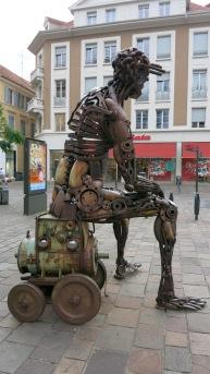 Estatua en las calles de Mulhouse