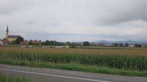 La llanura alsaciana y las colinas alemanas al fondo