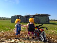 En el dolmen de La Madeleine