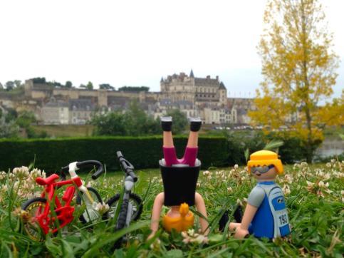 Con el castillo de Amboise al fondo