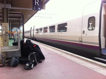Espera en la Estación de tren de Lyon