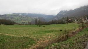 Vista del valle desde una colina