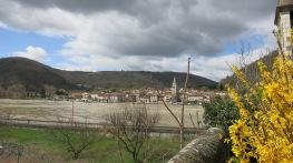 Vista del pueblo de Andance