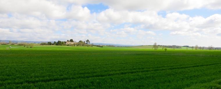 Vista de los campos cerca de Castelnaudary