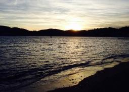 La puesta de sol desde el camping de Agay