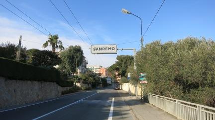 Entrando en San Remo