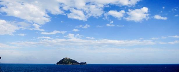 Isla Gallinara, parece una tortuga