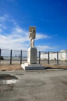 Estatua homenaje a los trabajadores del mármol en Carrara