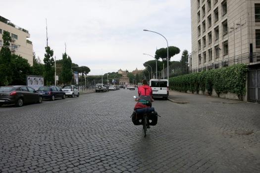Entrando al centro de Roma
