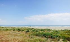 Playa con Monte Circeo al fondo