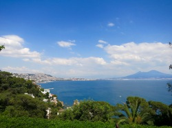 Vista del Golfo de Nápoles