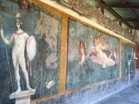 Detalle de la Casa de la Venus, en Pompeya