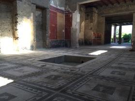 Triclinium de una villa en Pompeya