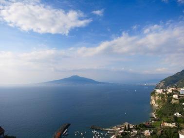 El Vesubio y la Bahía de Nápoles