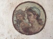 Detalle de pintura al fresco en casa de Pompeya
