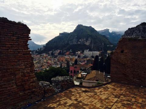 Vista del pueblo desde el teatro