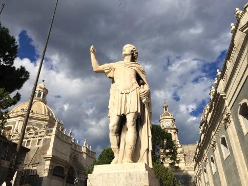 Detalle escultórico del Duomo de Catania