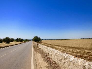 Carretera cerca de Avola