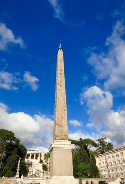Obelisco en la Piazza del Popolo