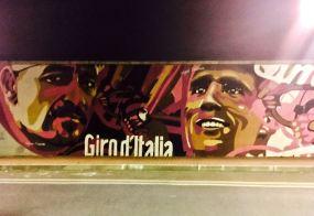 Graffitti homenaje al Giro de Italia