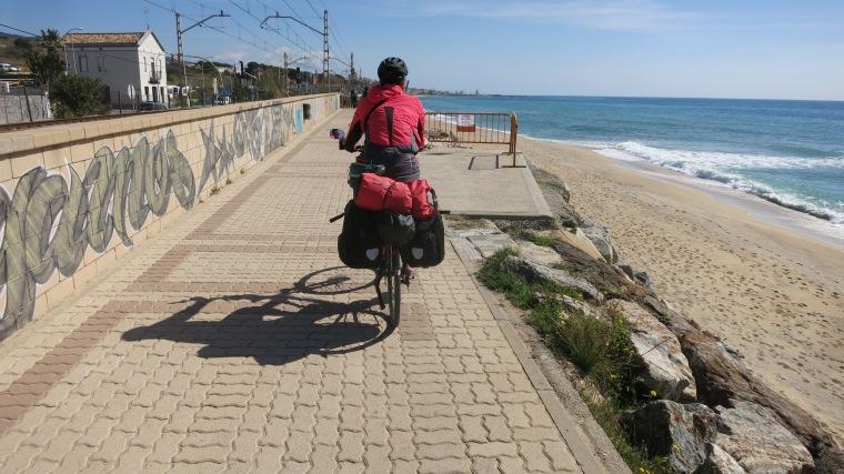 Circulando junto a la costa