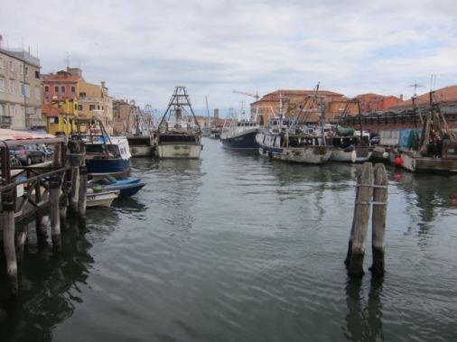 Uno de los canales exteriores de Chioggia